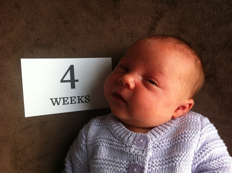 Baby Addison at 4 weeks