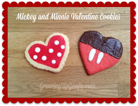 Mickey and Minnie Valentine Cookies