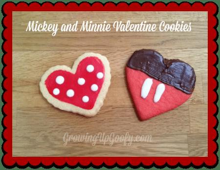 Mickey and Minnie Valentine Cookies