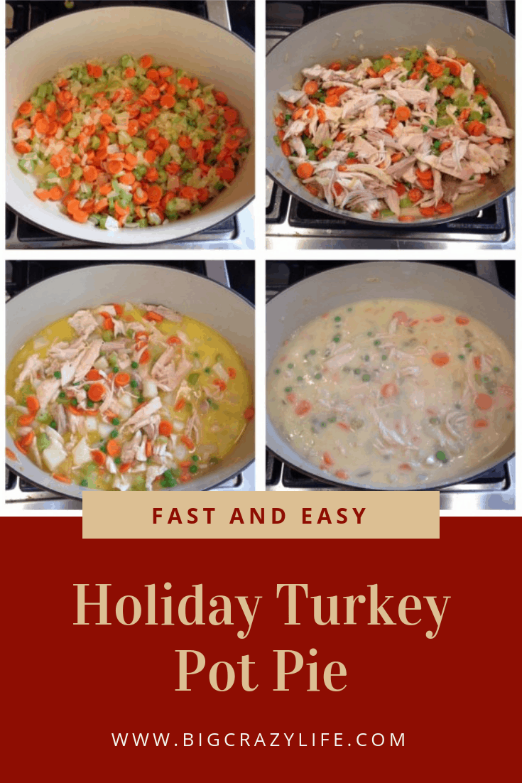 Looking for a quick and easy Turkey Pot Pie for the holidays? I have the perfect pie that is easy to make. Turkey | Turkey Pot Pie | Holiday | Thanksgiving | Thanksgiving Meal | Turkey Leftovers | Holiday Meal | #turkey #turkeypotpie #potpie #thanksgiving #chirstimas #holidaymeals #quickandeasy #quickandeasycooking