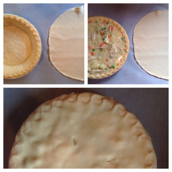 Filling the pie shells