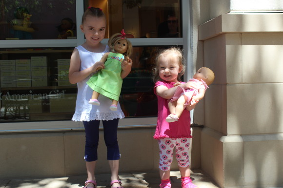 E and A at #AmericanGirl