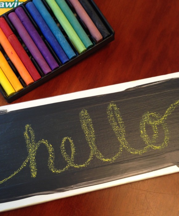Hello-Chalkbord Art