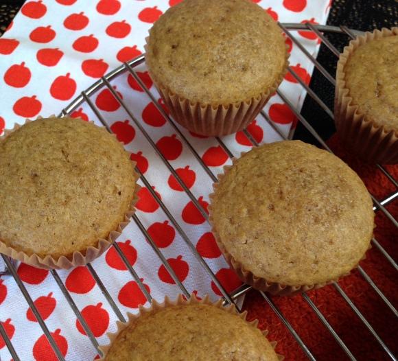 Cooling pumpkin muffins