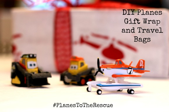 DIY Planes Gift Wrap and Travel Bags