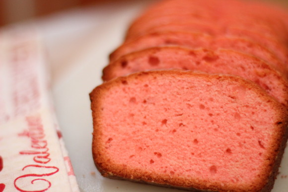 Pink pound cake