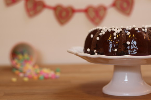 Hot Chocolate Heart Cake