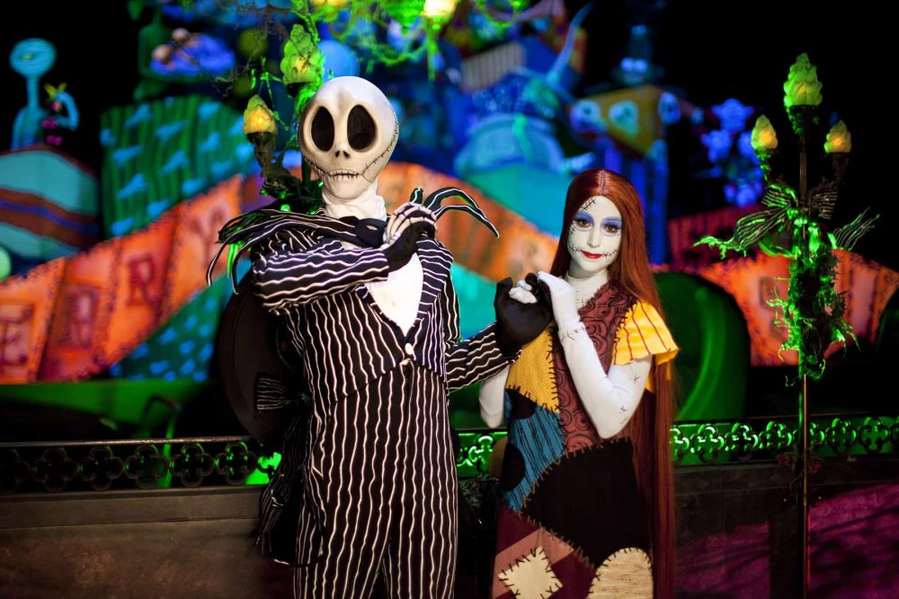 Jack and Sally from the Nightmare Before Christmas