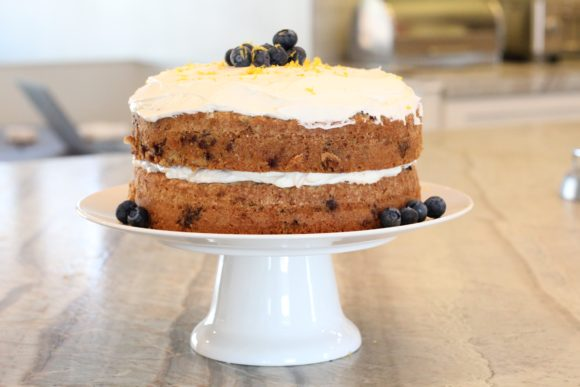 zucchini-blueberry cake