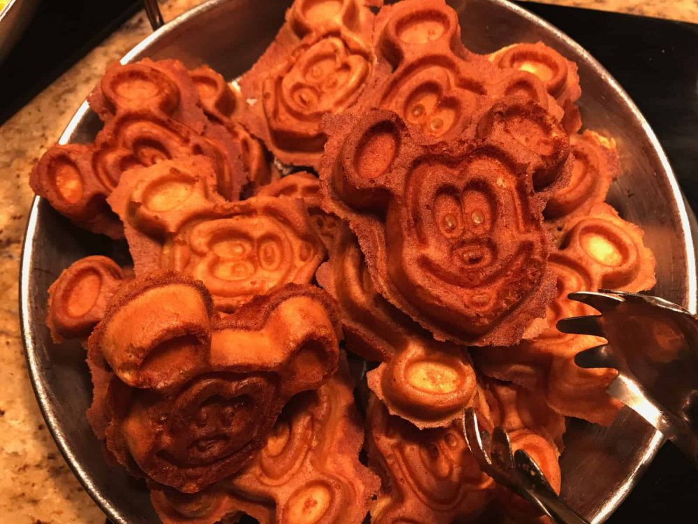 What is a trip to Disneyland without a Mickey Waffle?