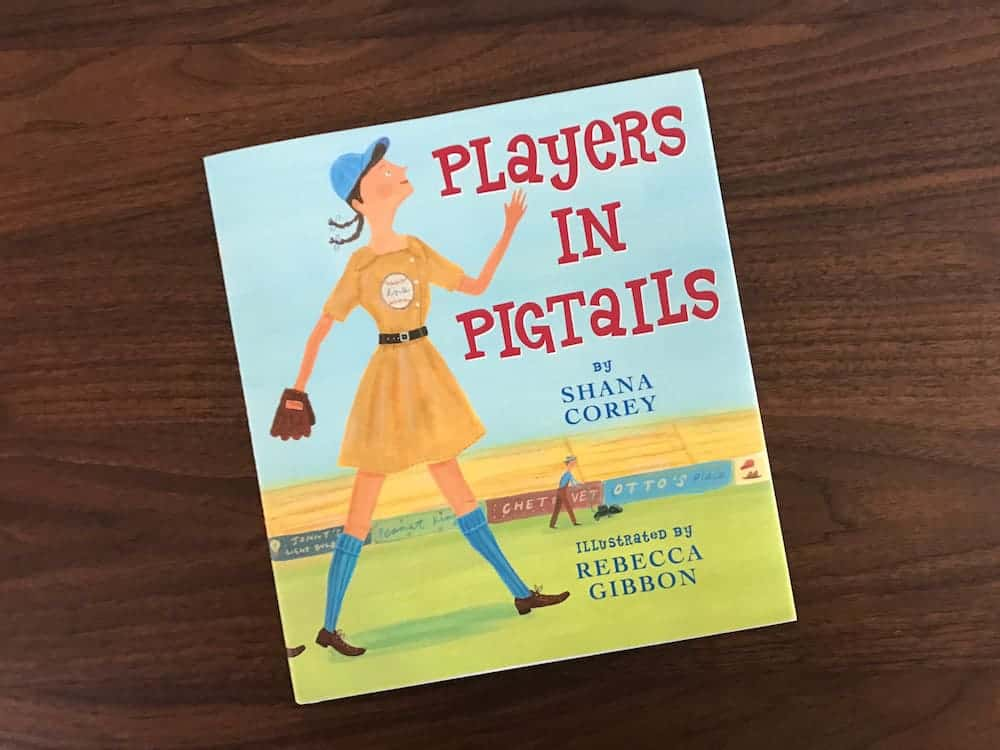 Players in Pigtails is a great book about women in baseball. Perfect for our softball loving player.