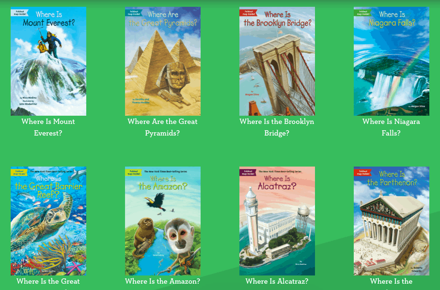 WHOHQ offers books to educate young children on who, what, where, and when things took place in history.