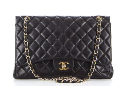 Chanel Black Lambskin Vintage Maxi Single Flap Bag: What dreams are made of apparently.
