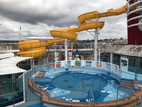 Waterslide on the Disney Wonder