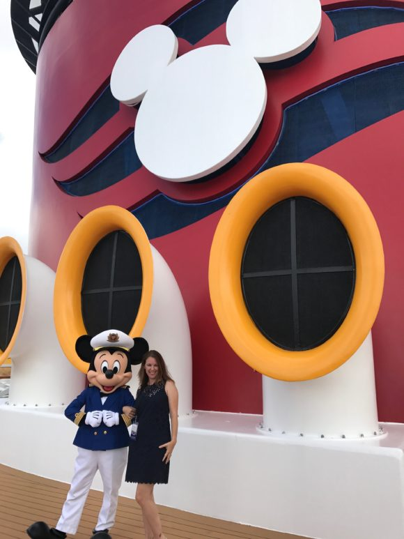 Mickey on the Disney Wonder