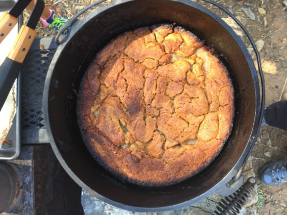 Dutch oven dump cake