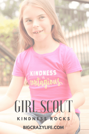 Kindness rocks for Girl Scouts