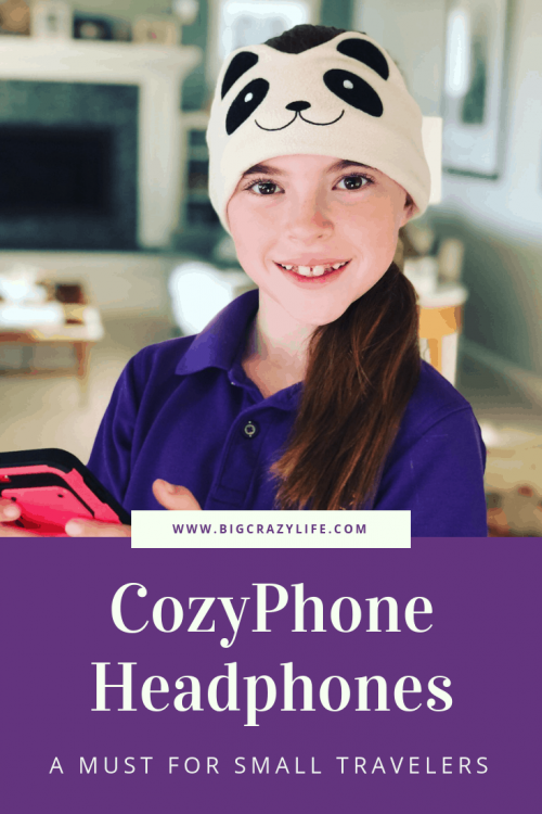 Cozyphone Headphones are great for small travelers.