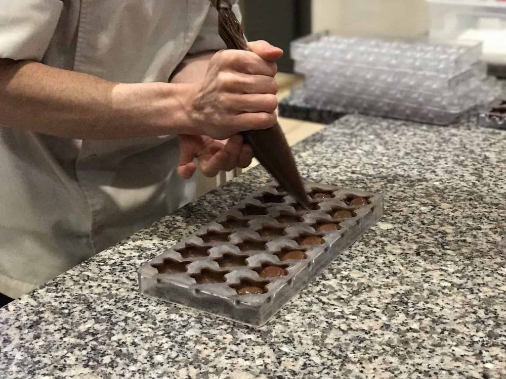 Chocolate making at Choco Story, Paris