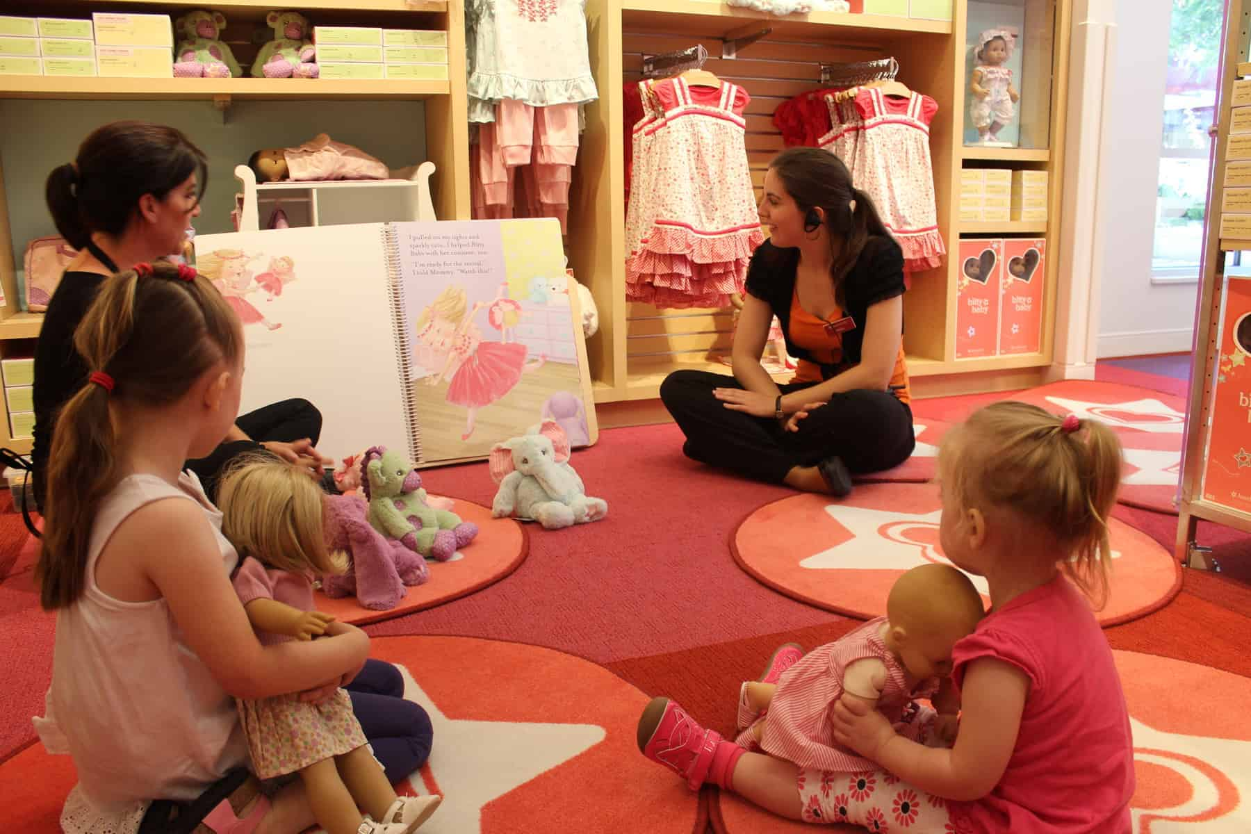 Hanging out at the new American Girl store