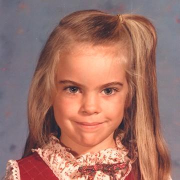 Childhood photo of Cam
