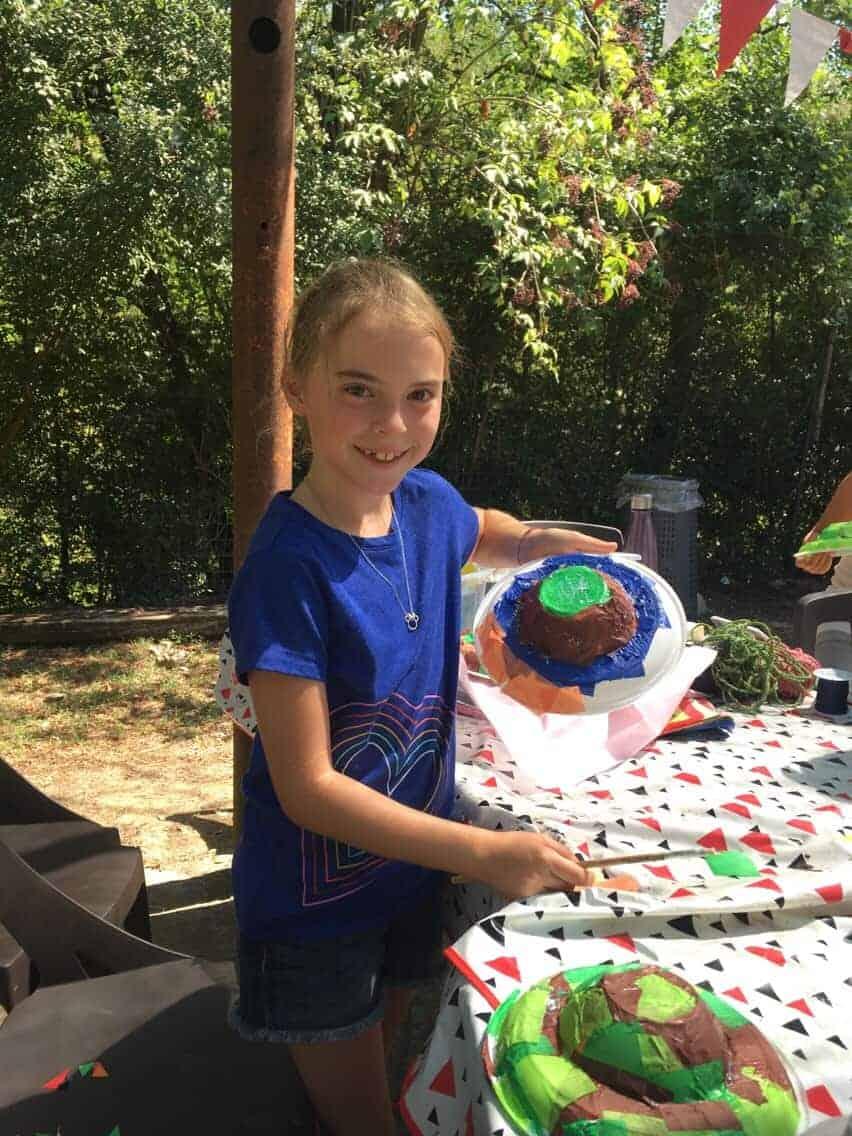 Making arts and crafts at Canadian Island summer camp.