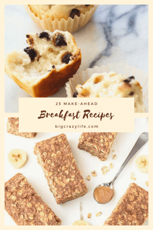 Make Ahead Breakfast Ideas