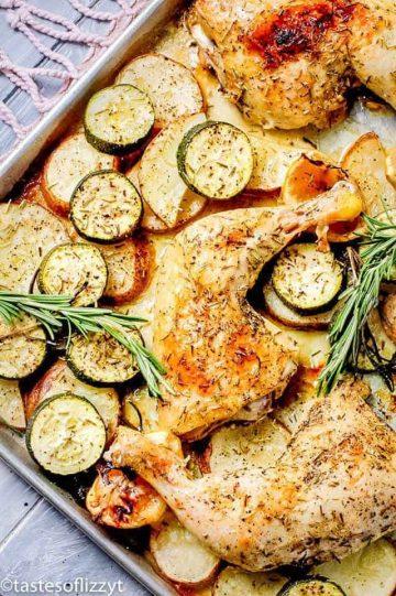 Lemon Chicken on Sheet Pan
