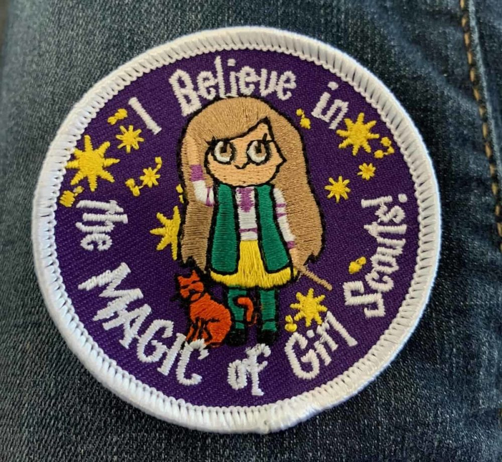 """Custom patch reading """"I believe in the MAGIC of Girl Scouts!"""""""