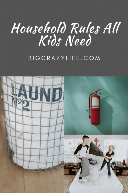 Household rules for kid