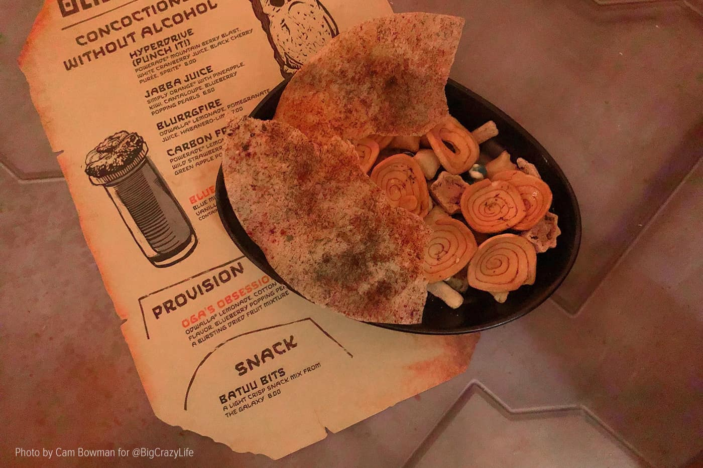 """Batuu Bits"" snack option from Oga's Cantina"