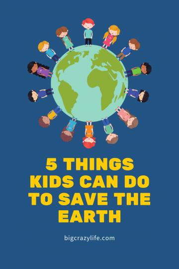kids standing on a globe