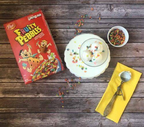 fruity pebbles with ice cream