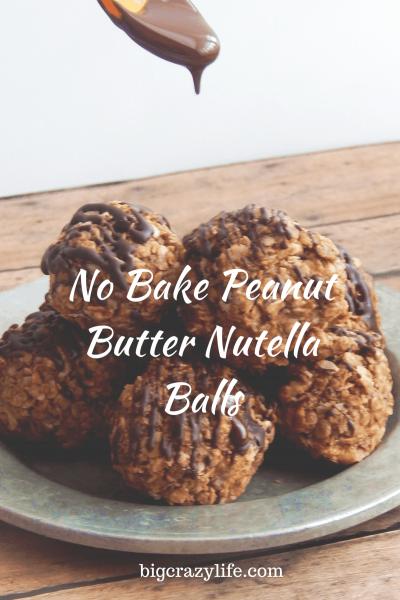 no bake nutella peanut butter balls