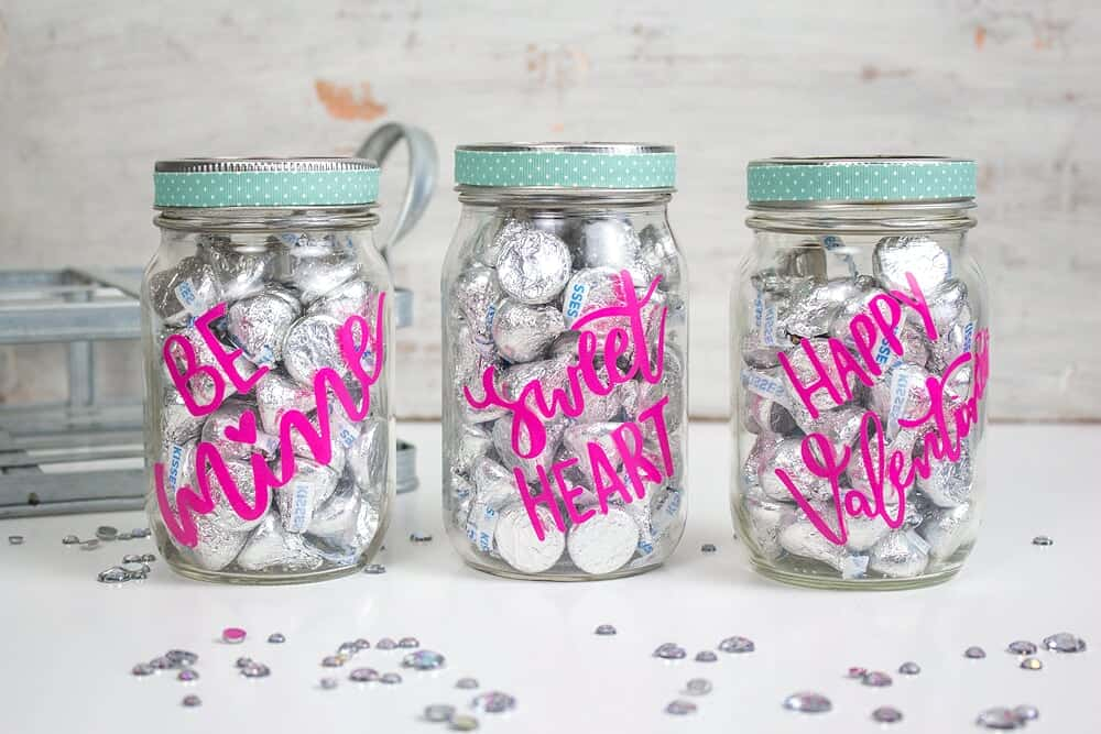three treat jars