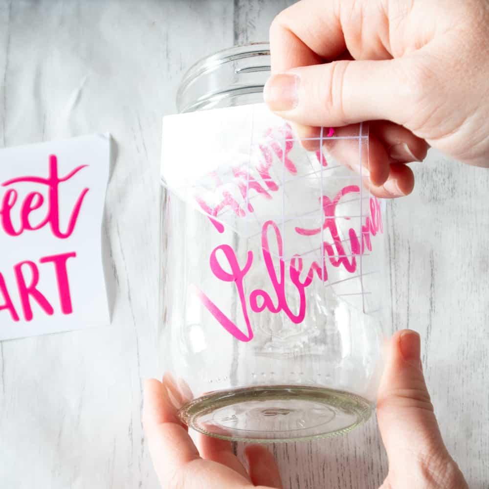 Cricut jar project