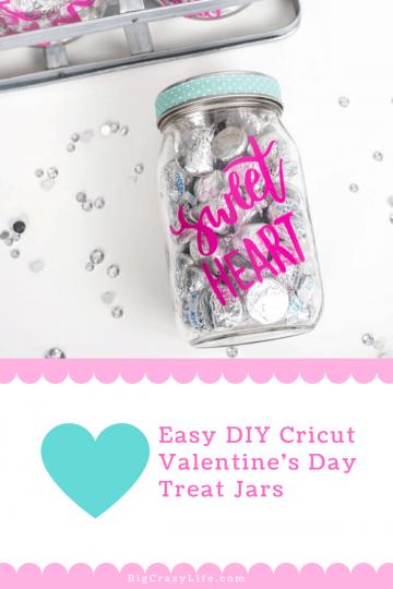 Valentines day treat jar