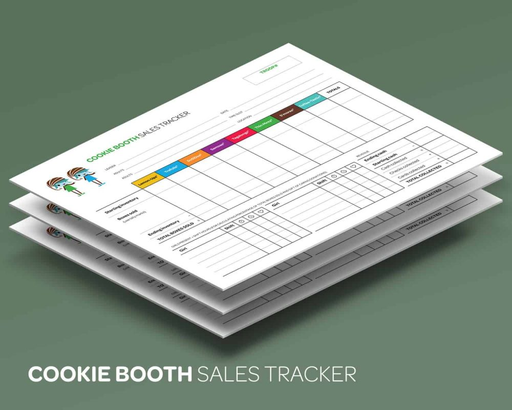 Cookie Booth Sales Tracker