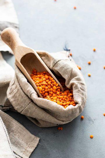 lentils in a bag