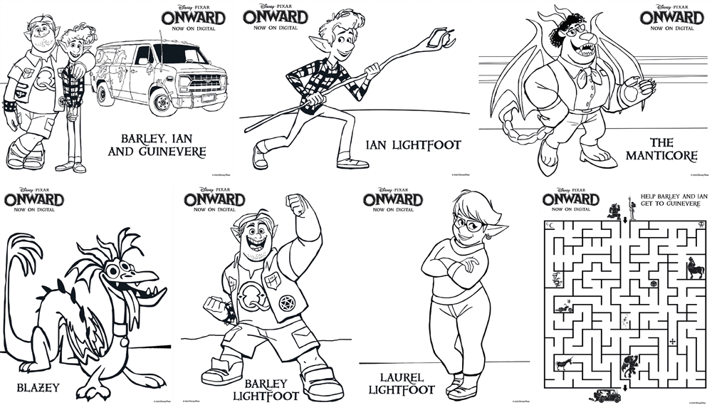 Onward coloring sheets