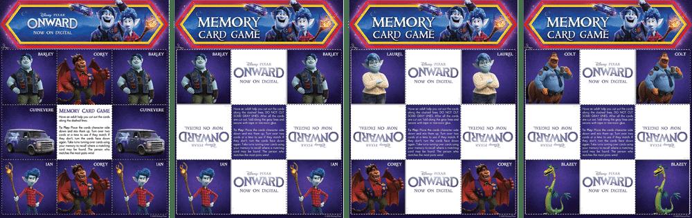 Onward memory game
