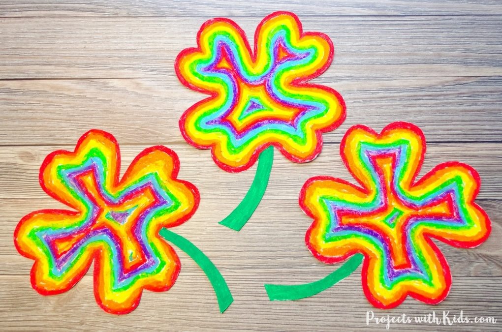 rainbow shamrocks