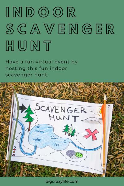 Scavenger hunt sign