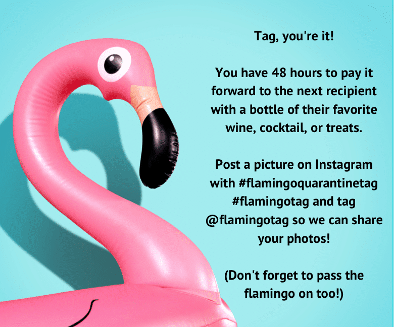 instruction tag for flamingo tag