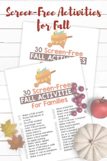 list of fall activities