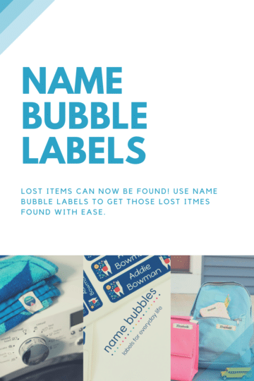 labels for clothes and water bottles.