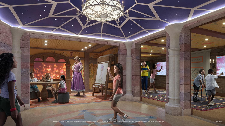 Fairytale Hall in the Disney Wish Oceaneer Club