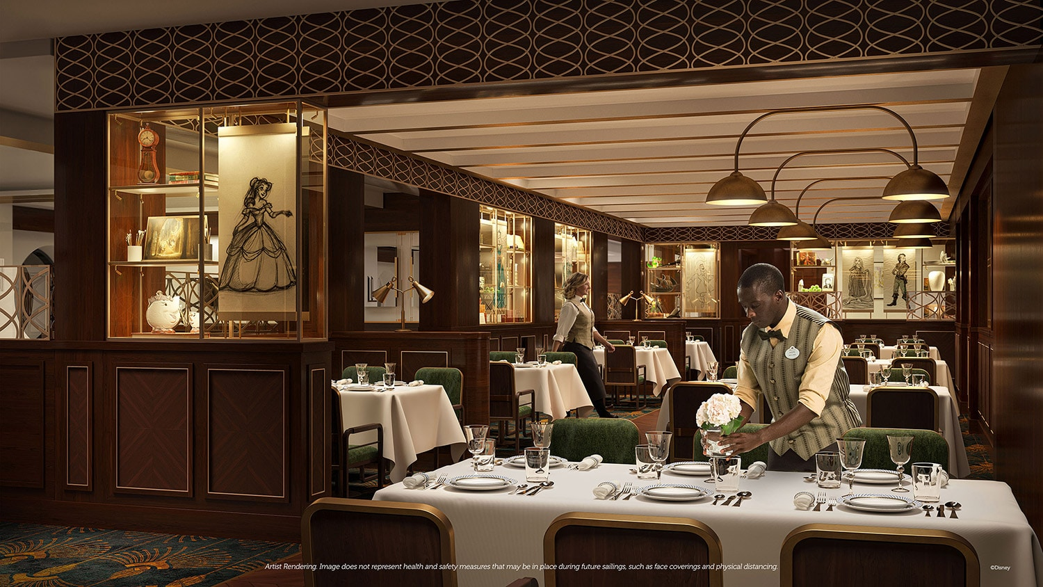 1923, a family dining experience aboard the Disney Wish