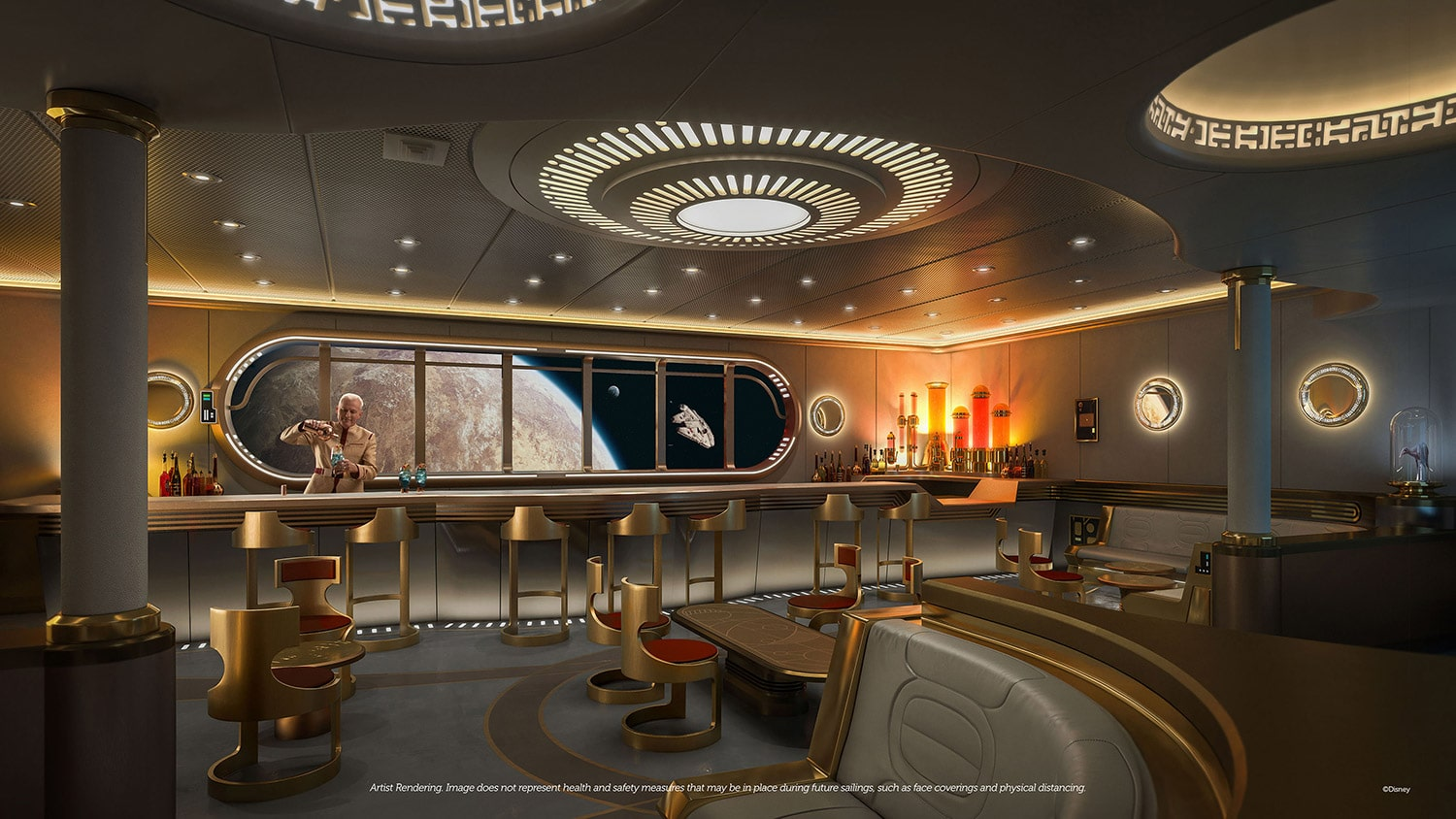 Star Wars Hyperspace Lounge on the Disney Wish
